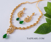 Gold Plated Necklaces from online store Taj Pearl